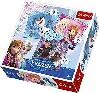 Trefl 3-in-1 Disney Frozen Heroes Puzzle (106 Pieces)