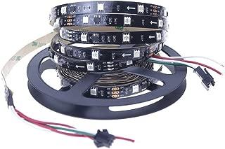 Alarmpore (TM 16.4FT WS2811 Led Strip, Programmable and Addressable, 5050 Digital RGB LED Strip 5M 150LEDs Not Waterproof Dream Magic Color 12V Led Rope Tape 30LEDs/m Black PCB …