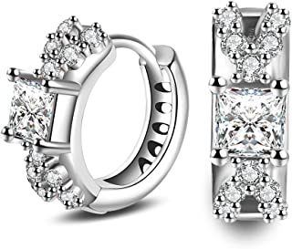 skyllc Men and Women Jewelry Round Cut Earrings Artificial Diamond Earrings Studs