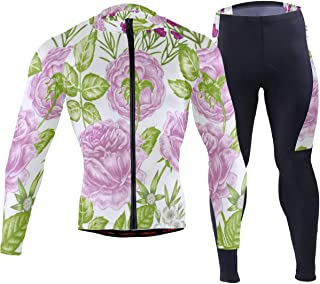 Funny Minimalist Halloween Skull and Pumpkin Mens Cycling Jersey Suit Full Sleeve Mountain Biking Coat Pants Clothes Outfit