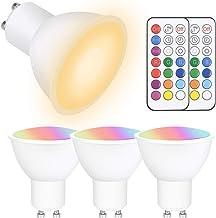 Vicloon GU10 LED Kleur Veranderende Lamp, 4 stuks 5W GU10 Kleur Veranderende Gloeilamp met Afstandsbediening, RGBW, Dimbaa...