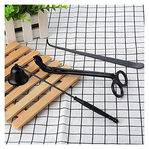 L1YAFYA Candle Wick Trimmer Cutter Cutter Supplies Accesorios de Lujo Conjunto de Accesorios de Vela Decoración del hogar Lámpara de Aceite Tijera (Color : Black)