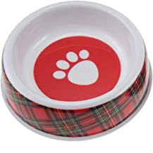 Glen Appin Red Tartan Royal Stewart Melamine Dog Puppy Food Water Bowl