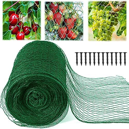 YTW Vogelschutznetz, Teichnetz, Laubnetz, Gartennetz, Pool Netz für Garten, Balkon oder Teich Kirschbaum, robust, Maschenweite 15 mm(4×5m)