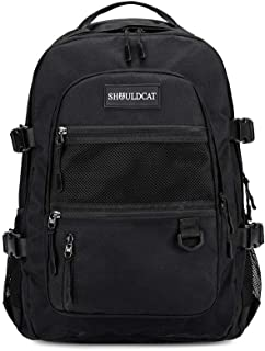 15.6 Inch Laptop Backpack Travel Backpack for Women men Water Resistant Casual Daypack College Middle School Backpack for Girls Gifts for Teen Boys, Black