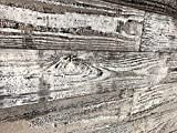Smart Paneling 11338 Village Accent Wall Wood Planks, 24', Whitewash, 12 Piece
