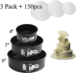 Springform Pan set,Nonstick Leakproof 3 Pieces(4