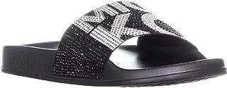 Michael Michael Kors Womens Gilmore Rubber Open Toe Slip On Slippers