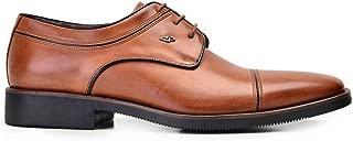 2046-246 TFTB-Antik Safran 203 Nevzat Onay%100 Deri Taba Klasik Bağcıklı Erkek Ayakkabı