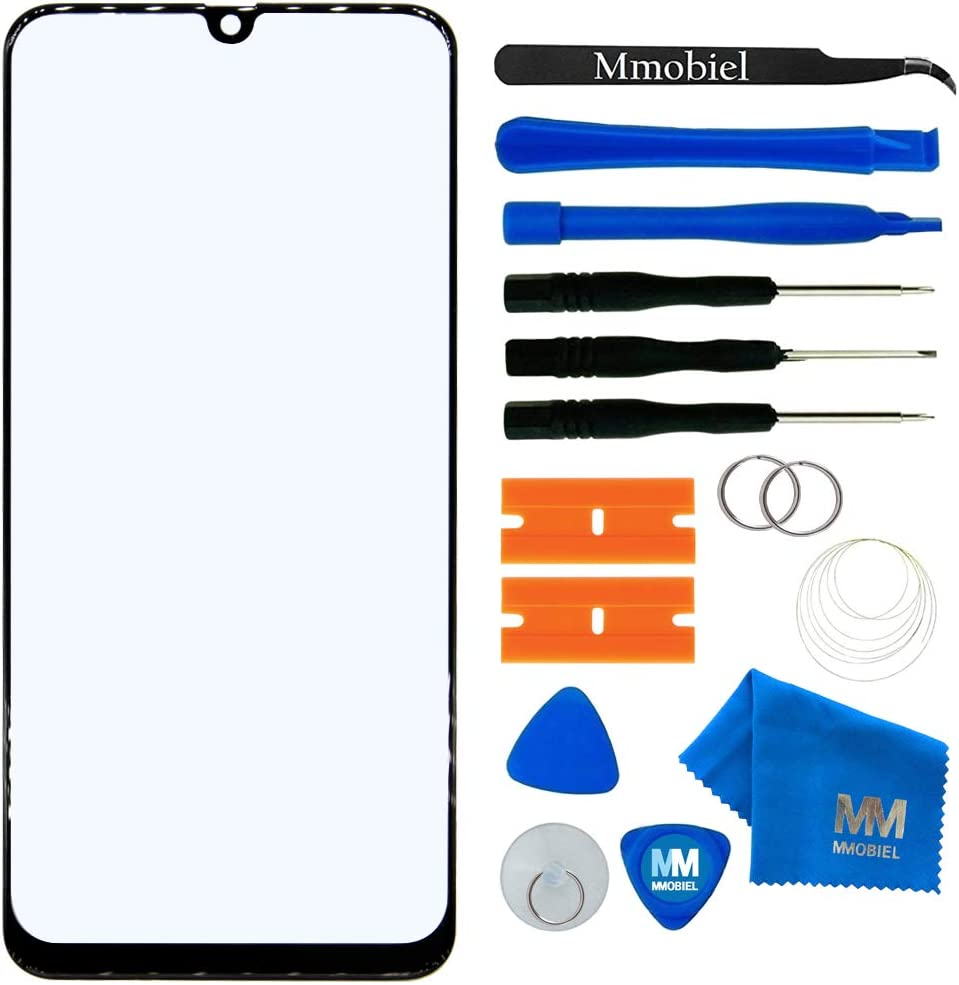 MMOBIEL Front Glass Repair kit Compatible with Samsung Galaxy A70 A705 / A90 5G 6.7 inch 2019 (Black) Display incl. Tools