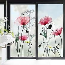 decalmile Muurstickers Papaver Bloemen Muurtattoo Fabriek Wanddecoratie Woonkamer Slaapkamer Keuken
