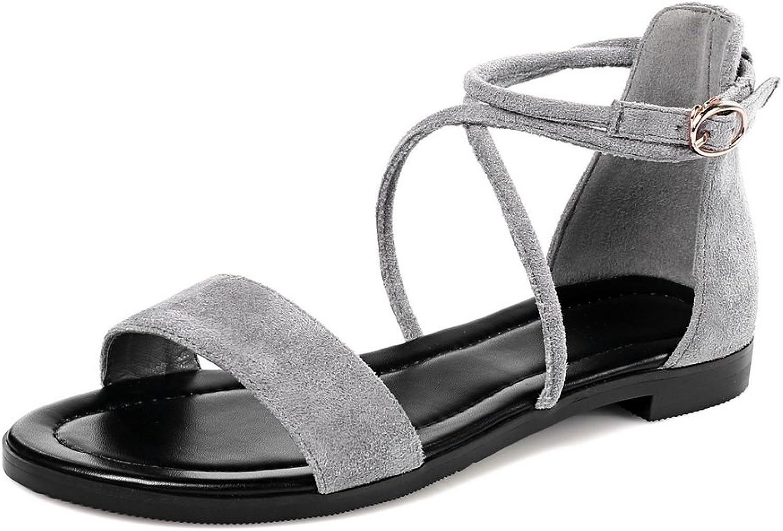 BalaMasa Womens Pointed-Toe Baguette-Style Huarache Urethane Sandals ASL04967