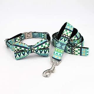 Geometry Dog Collar Bow Leash Harness and Bandana Sets Personal Custom Adjustable pet