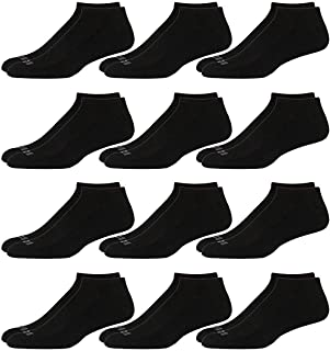 Men's Athletic Arch Compression Cushion Comfort Low Cut Socks (12 Pack)