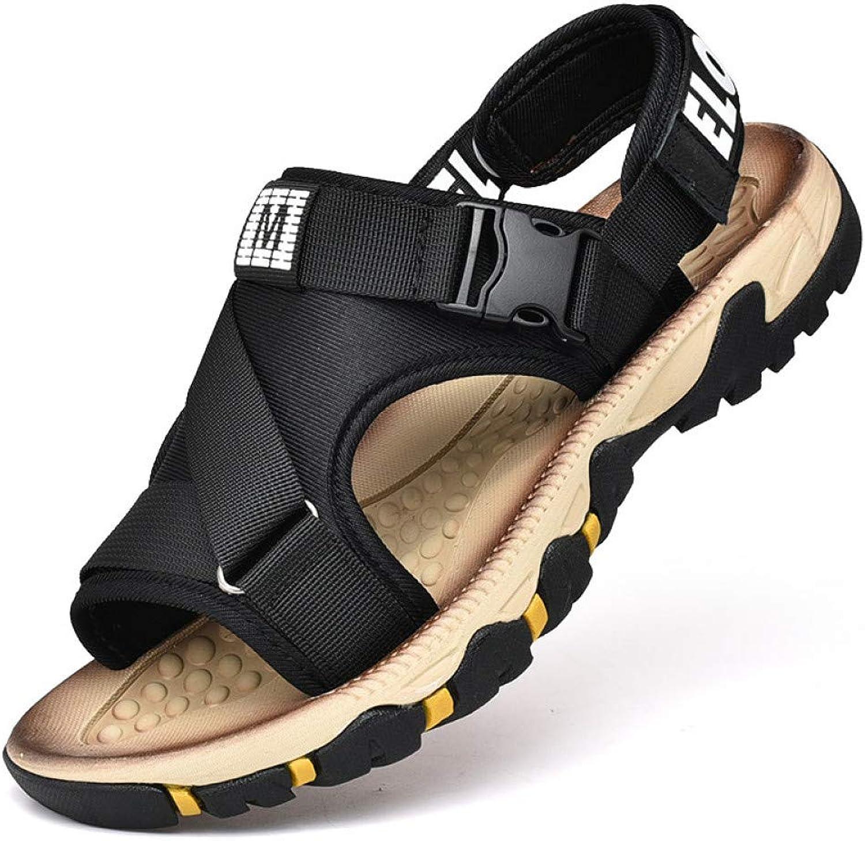 Tanxianlu Men'S Sandals Summer Stretch Fabric Flat Beach Sandals Young Men Student