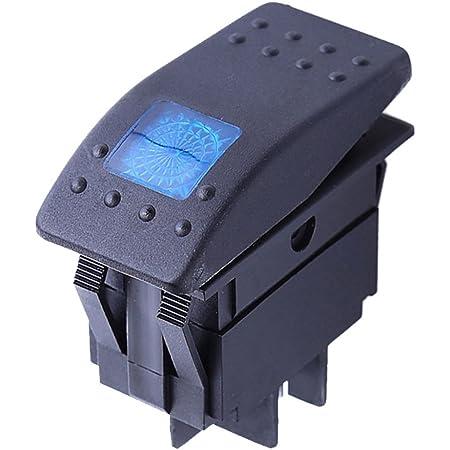 Mintice Trade Kfz Auto Kippschalter Druckschalter Schalter Wippschalter Wasserdicht 12v 20a Blau Led Licht Lampe 4pin An Aus Auto