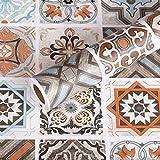 Livelynine papel de contacto para azulejos decorativos de papel pintado para cocina, dormitorio, baño, suelos de vinilo, autoadhesivos, rollo de papel de pared de 15. 8 x 78. 8 pulgadas