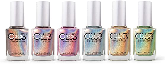 Color Club Halo Hues Collection Holographic Nail Lacquer Set of 6 Colors
