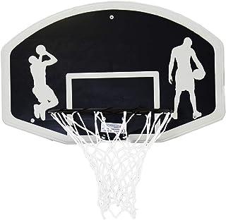 Charles Bentley Set de Baloncesto aro 45 cm y Red - Incluye Tablero de 90 cm + balón tamaño 7
