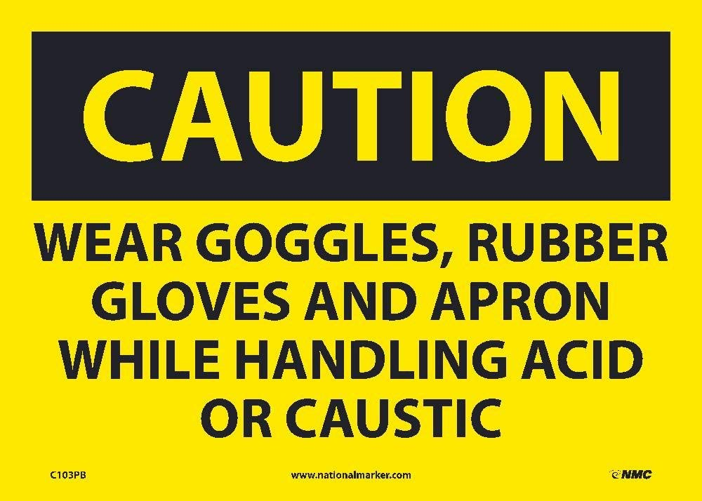 National Marker Caution, WEAR Goggles Rubber (C103PB)