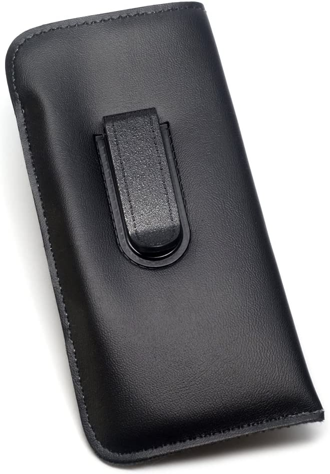 Mens Soft Slip-in Eyeglass Case Outlet sale feature w Medium 6.2 Black low-pricing in Sized Clip