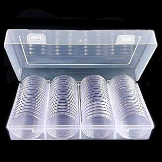 SNIIA - Portamonete Rotondo in plastica, con Contenitore, 40 mm, 60 Pezzi