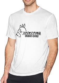 BKAJSDFB Studio Ghibli Logo Man White Morden Tshirt