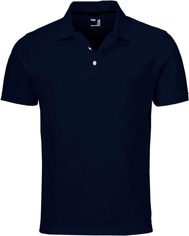 GAP Men's Solid Colors Custom Fit Polo Mesh Shirt