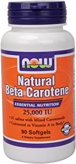 Now Foods Beta Carotene (Natural) - 90 Softgels 3 Pack
