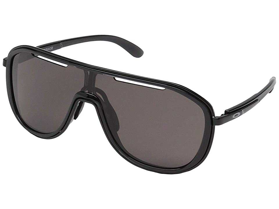 Oakley Outpace (Black Ink/Polished Black w/ Warm Grey) Sport Sunglasses