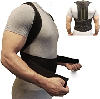 Back Brace Posture Corrector Fully Adjustable Back Support Belts Improves Posture and Provides Lumbar Support for Lower and Upper Back Pain Men and Women