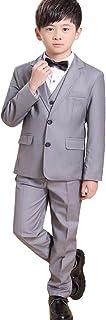 (AIMI)子供服 男の子 キッズ フォーマル スーツ 5点セット ボーイズ 卒業式 入学式 結婚式 発表会 入園式 卒業式 七五三 お宮参りNT011