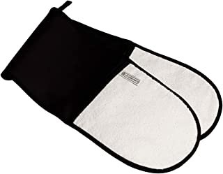 Le Creuset Dubbelhandske med slinga, en storlek, svart, bomullscanvas