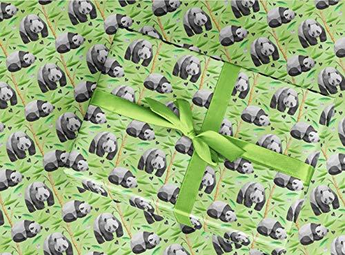Gift Wrapping Paper 30' x 84' Sheet Vintage Style (Panda Bear)