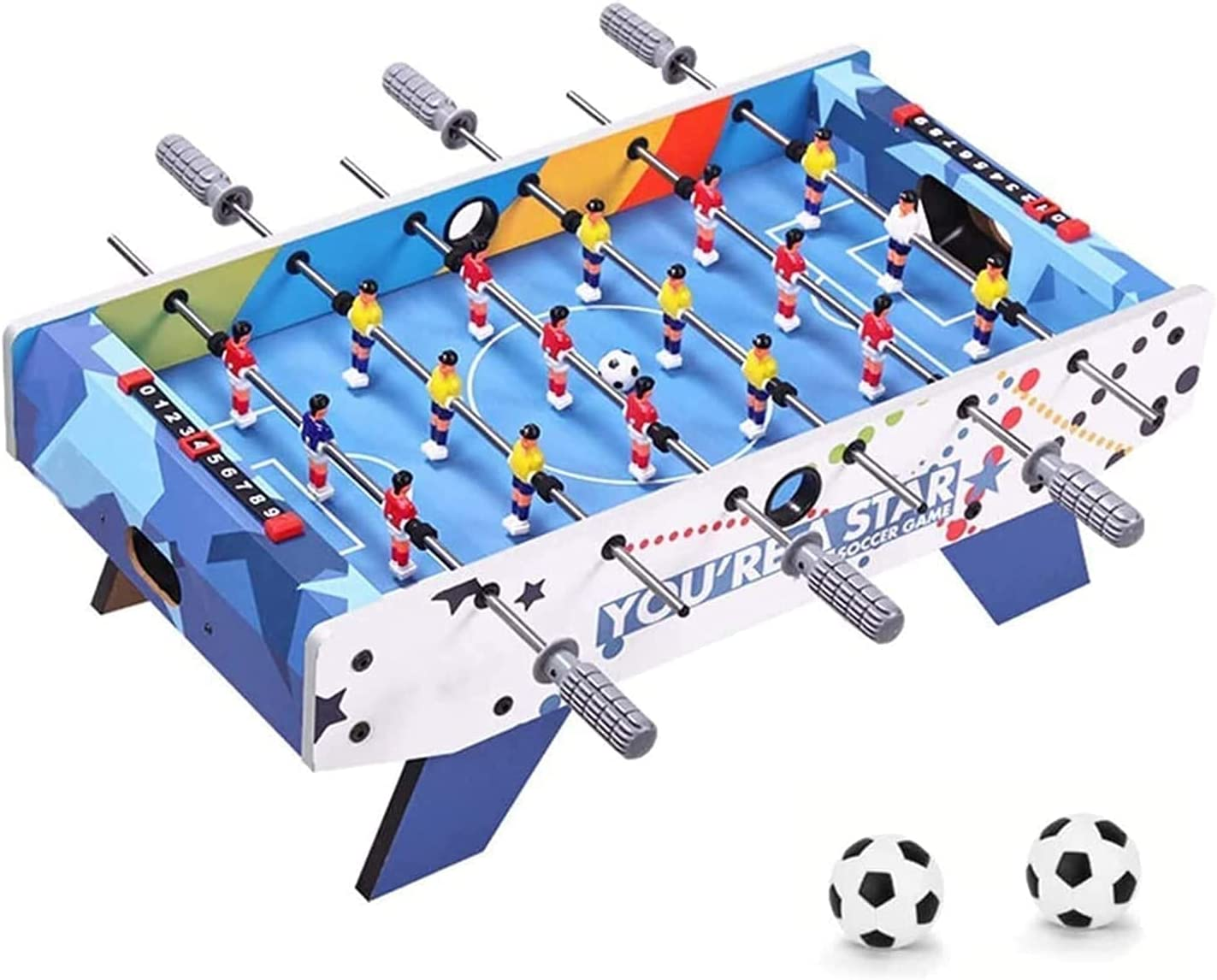XUERUIGANG Foosball Tabletop Games Max 76% OFF Max 85% OFF and Mini Accessories - Size