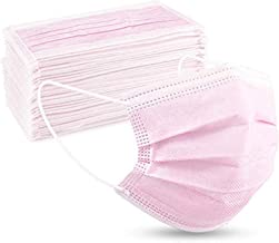 Langten -Pink50/100 stuks, 3 lagen wegwerp beschermende mond en neus, Wegwerp masker tieners, hoge filtratie non-woven sto...