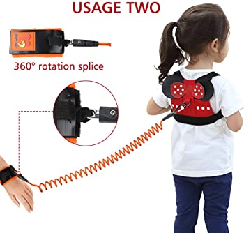 Accmor 3 in 1 Toddler Harness Leash, Cute Child Harness + Baby Anti Lost Tether Strap + Wrist Link, Kid Walking Belt ...