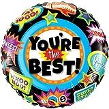 paduTec Heliumballon Ballon Folienballon - You Are The Best - du bist der Beste - mit Helium gefüllt