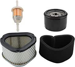 Mckin GY20574 Air Filter + AM125424 Oil Filter + AM116304 Fuel Filter fits John Deere LT133 LT155 LT150 STX30 STX38 STX46 LX255 LX176 Scotts S1642 Lawn Mower