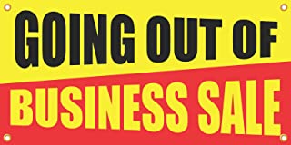 Going Out Of Business Sale Retail Banner Sign, 2'h x 4'w, Full Color, 1 Banner