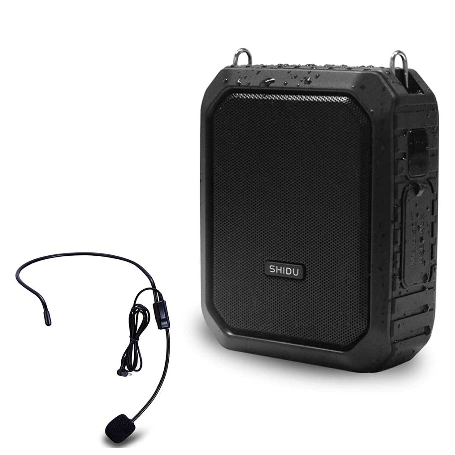 Waterproof Voice Amplifier with Wired Mic, 18W Microphone and Speaker 4400mAh Rechargeable PA Loudspeaker Personal Amplification Bluetooth Powerful System for Indoor/Outdoor