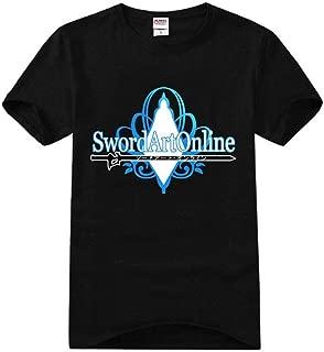 Anime SAO Sword Art Online Kirito Asuna Cosplay Tshirt Tee