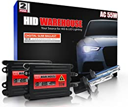 HID-Warehouse 55W AC Xenon HID Lights with Premium Slim AC Ballast - H7 8000K - 8K Medium Blue - 2 Year Warranty