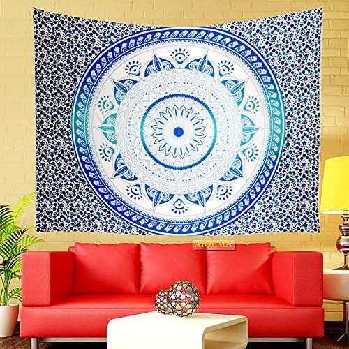 NHhuai Tapiz Dormitorio Sala Dormitorio Decoración Estampado de Flores Mandala en la Pared