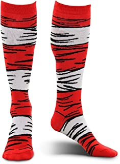 elope Dr. Seuss Cat in The Hat Adult Costume Socks