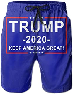 Donald Trump for President 2020 Keep America Great Men's Summer Casual Board Shorts Quick Dry Board Shorts with Pockets
