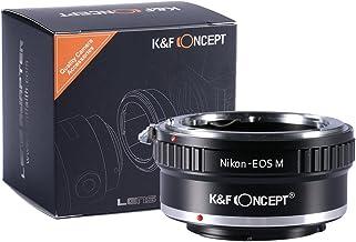 [正規代理店]K&F ニコン AIレンズ-CANON EOS M マウントアダプター レンズクロス付 nf-eosm (KFEOSM)