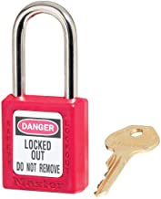 Masterlock s410red M/Lock Lockout hangslot - rood