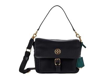 Tory Burch Piper Crossbody (Black) Handbags