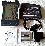 HIGH TECH Tensiomètre de pression artérielle 220 VOLT électricité ou piles – pour les mesures individuelles avec PC à long terme, logiciel de dévaluation, tensiomètre de pression artérielle